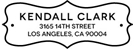 Picture of Kendall Rectangular Address Stamp