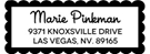 Picture of Marie Rectangular Address Stamp
