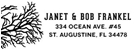 Picture of Janet Rectangular Address Stamp