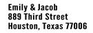 Picture of Jacob Rectangular Address Stamp