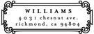 Picture of Williams Rectangular Address Stamp
