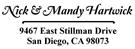 Picture of Hartwick Rectangular Address Stamp