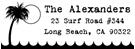 Picture of Surf Rectangular Address Stamp