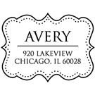 Picture of Avery Wood Mounted Address Stamp