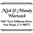 Picture of Hartwick Wood Mounted Address Stamp