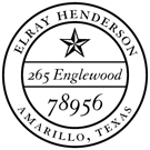 Picture of Henderson Wood Mounted Address Stamp