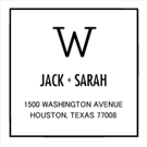 Picture of Jack Wood Mounted Address Stamp