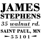 Stephens Wood Mounted Address Stamp