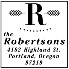 Robertson Wood Mounted Address Stamp