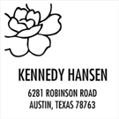 Picture of Hansen Wood Mounted Address Stamp