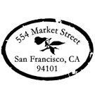 Picture of Market Street Wood Mounted Address Stamp