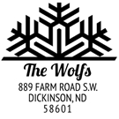Picture of Wolf Wood Mounted Holiday Stamp
