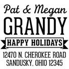 Picture of Grandy Wood Mounted Holiday Stamp