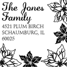 Picture of Jones Wood Mounted Holiday Stamp