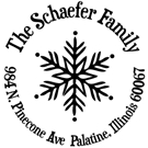 Picture of Schaefer Wood Mounted Holiday Stamp