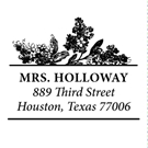 Picture of Holloway Wood Mounted Address Stamp