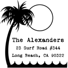 Picture of Surf Wood Mounted Address Stamp
