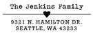 Picture of Jenkins Rectangular Address Stamp