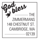Picture of God Bless Inspirational Stamp