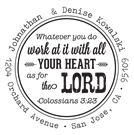 Picture of Colossians 3:23 Inspirational Stamp