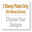 Picture of 3 Stamp Plates - Choose from dozens of designs!
