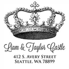 Picture of Castle Wood Mounted Address Stamp