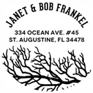 Picture of Janet Wood Mounted Address Stamp