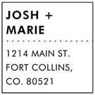 Picture of Josh Wood Mounted Address Stamp