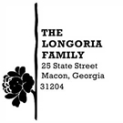 Picture of Longoria Wood Mounted Address Stamp