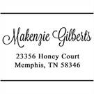 Makenzie Wood Mounted Address Stamp