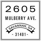 Mulberry Wood Mounted Address Stamp