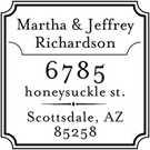 Richardson Wood Mounted Address Stamp