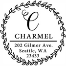 Picture of Charmel Wood Mounted Address Stamp