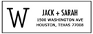 Picture of Jack Rectangular Address Stamp