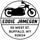 Picture of Jameson Wood Mounted Address Stamp