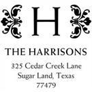 Picture of Harrison Wood Mounted Address Stamp