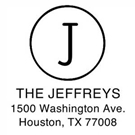 Picture of Jeffreys Wood Mounted Address Stamp