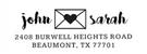 Picture of John Rectangular Address Stamp