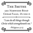 Picture of Philippians 4:13 Inspirational Stamp