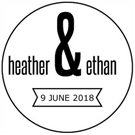 Picture of Ethan Wood Mounted Wedding Stamp