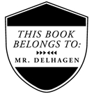 Picture of Delhagen Wood Mounted Library Stamp