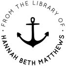 Picture of Matthew Wood Mounted Library Stamp