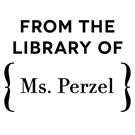 Picture of Perzel Wood Mounted Library Stamp