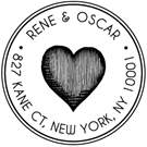 Picture of Rene Wood Mounted Address Stamp