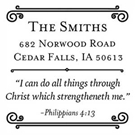 Picture of Philippians Wood Mounted Inspirational Stamp