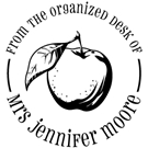 Picture of Moore Wood Mounted Teacher Stamp