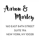 Picture of Aaron Wood Mounted Address Stamp