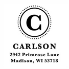 Picture of Carlson Wood Mounted Address Stamp