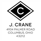 Picture of Crane Wood Mounted Address Stamp