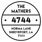 Picture of Mathers Wood Mounted Address Stamp